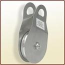 Puleggia di rinvio diam. mm. 100 apribile in alluminio.<br> Art. 3045060