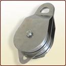 Doppia puleggia di rinvio diam. mm. 100 in alluminio apribile.<br>Art. 3045062