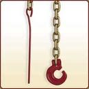 Set catena mm. 6 con gancio speciale a 'C' e fusello per aggancio tronchi.<br>Art. 3045040